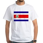 Costa Rica Flag White T-Shirt