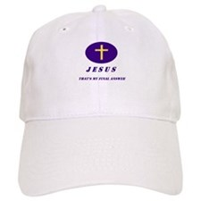 """Jesus, My Final Answer Baseball Cap"