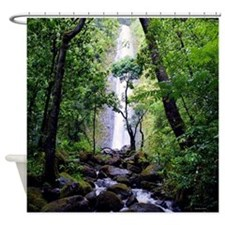 Manoa Valley Falls Shower Curtain