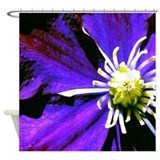 """Deep Purple"" Shower Curtain"