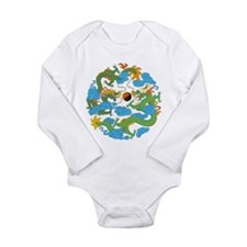 Yin Yang Symbol Long Sleeve Infant Bodysuit