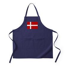 Denmark Flag Apron (dark)