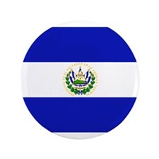 "El Salvador Flag 3.5"" Button (100 pack)"