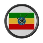 Ethiopia Flag Large Wall Clock