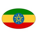 Ethiopia Flag Sticker (Oval 50 pk)