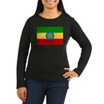 Ethiopia Flag Women's Long Sleeve Dark T-Shirt