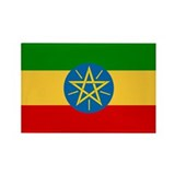 Ethiopia Flag Rectangle Magnet (100 pack)