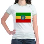 Ethiopia Flag Jr. Ringer T-Shirt