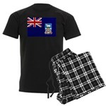 Falkland Islands Flag Men's Dark Pajamas