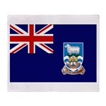 Falkland Islands Flag Throw Blanket