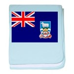 Falkland Islands Flag baby blanket