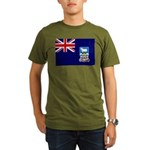 Falkland Islands Flag Organic Men's T-Shirt (dark)