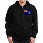 Falkland Islands Flag Zip Hoodie (dark)