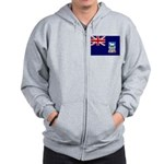 Falkland Islands Flag Zip Hoodie