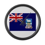 Falkland Islands Flag Large Wall Clock