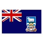 Falkland Islands Flag Sticker (Rectangle 10 pk)