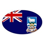 Falkland Islands Flag Sticker (Oval 50 pk)