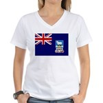Falkland Islands Flag Women's V-Neck T-Shirt