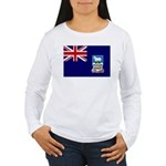 Falkland Islands Flag Women's Long Sleeve T-Shirt