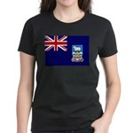 Falkland Islands Flag Women's Dark T-Shirt