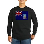 Falkland Islands Flag Long Sleeve Dark T-Shirt