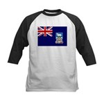 Falkland Islands Flag Kids Baseball Jersey