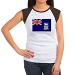 Falkland Islands Flag Women's Cap Sleeve T-Shirt