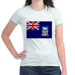Falkland Islands Flag Jr. Ringer T-Shirt