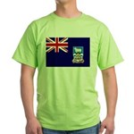 Falkland Islands Flag Green T-Shirt