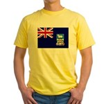 Falkland Islands Flag Yellow T-Shirt