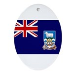 Falkland Islands Flag Ornament (Oval)