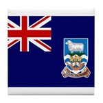 Falkland Islands Flag Tile Coaster