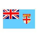 Fiji Flag 38.5 x 24.5 Wall Peel