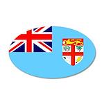 Fiji Flag 38.5 x 24.5 Oval Wall Peel