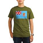 Fiji Flag Organic Men's T-Shirt (dark)