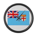 Fiji Flag Large Wall Clock