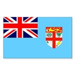Fiji Flag Sticker (Rectangle 10 pk)