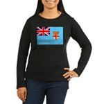 Fiji Flag Women's Long Sleeve Dark T-Shirt