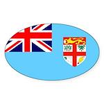Fiji Flag Sticker (Oval)