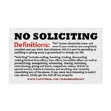 """No Soliciting Definitions"" 38.5 x 24.5 Wall Peel"