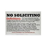 """No Soliciting Definitions"" Rectangle Magnet"