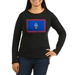 Guam Flag Women's Long Sleeve Dark T-Shirt