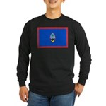 Guam Flag Long Sleeve Dark T-Shirt