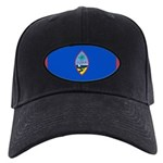Guam Flag Black Cap