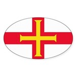 Guernsey Flag Sticker (Oval 10 pk)