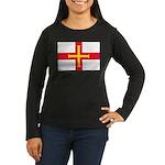 Guernsey Flag Women's Long Sleeve Dark T-Shirt