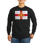 Guernsey Flag Long Sleeve Dark T-Shirt
