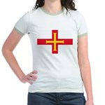 Guernsey Flag Jr. Ringer T-Shirt