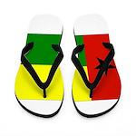 Guinea Bissau Flag Flip Flops
