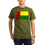Guinea Bissau Flag Organic Men's T-Shirt (dark)